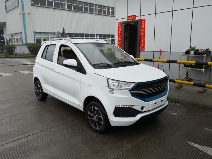 High Speed EV Electric Shuttle Car With Battery 5 Seats Closed Door Mileage Range 135KM