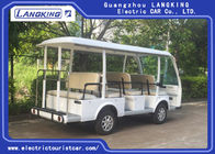 Fashion White 11 Person Electric Sightseeing Bus For Hotel / Real  Estate