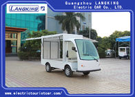 China Two Seats Food Truck Electric Luggage Cart Enclosed Cargo Box 900kg Payload For Park factory