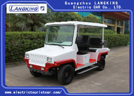 Red / White Five Seats Electric Patrol Car With Bucket HS CODE 8703101900