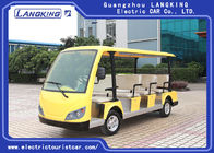 11 Seats  Multi Passenger Electric Tour Bus Yellow Color Low Noise