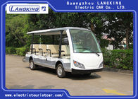 China Small Electric Shuttle Car , 14 People Electric Sightseeing Bus Max.Speed 28 km/h factory