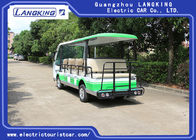 Green / White Electric Shuttle Car / 7.5KM Motor 72V 14 Seater Electric Golf Carts For Park