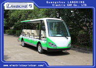 China Green / White Electric Shuttle Car / 7.5KM Motor 72V 14 Seater Electric Golf Carts For Park factory