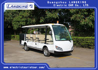 China Cool 11 Seats Cargo Electric Sightseeing Vehicle With Small Toplight 72V 7.5KW factory