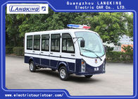 Good Quality Electric Tourist Car & White 11 Seater Electric Shuttle Car Equipped With Effective Shock Absorb / Door on sale