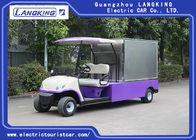 3kW DC Motor Driven Battery Powered Carry Van With Enclosed Cargo Box / 2 Person Electric Utility Carts