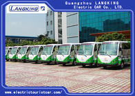 11 Persons Village Electric Shuttle Car 72V / 5KW AC Motor Range For 100km