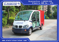 China 4/5 Seats Electric Patrol Car Iron Cargo Box Container Electric Cargo Van With Customized Dimension factory