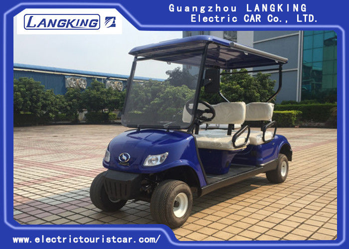 Fuel Type White Street Legal Electric 4 Penger Golf Cart 48v 3kw With Basket