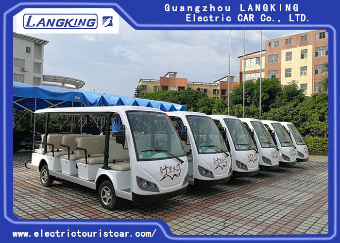 14 Seater Electric Sightseeing Bus , 72v Electric Shuttle Car  for Exhibition