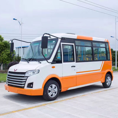 Fashion Orange White Electric Utility Carts , 30km/H Electric City Bus For Park