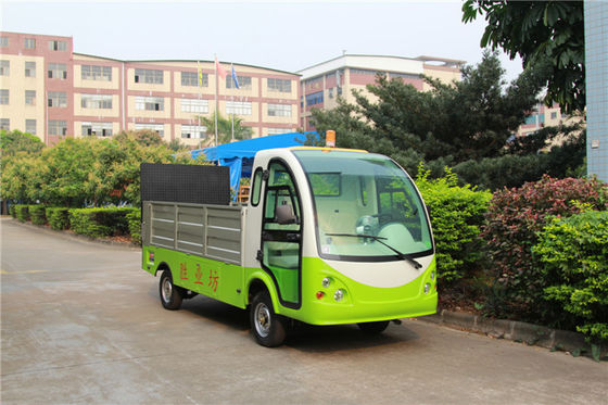 China Green Color Hotel Or Park Electric Luggage Cart With Comfortable Chair factory