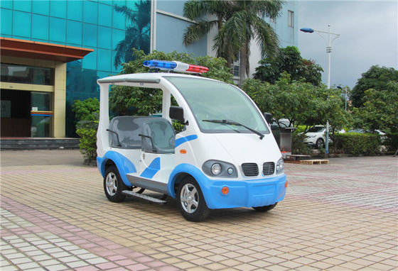 China Blue / White Electric Golf Car With Toplight Fiber Glass 4 Seats For Resort factory