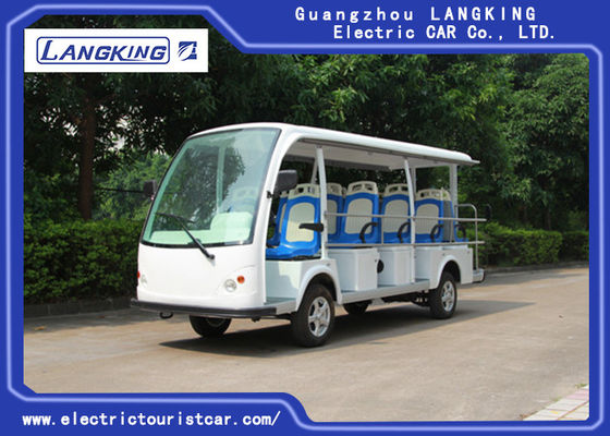 Customize Park / University Electric Sightseeing Car With 14 Seater 72V 5.5KW Dry Battery