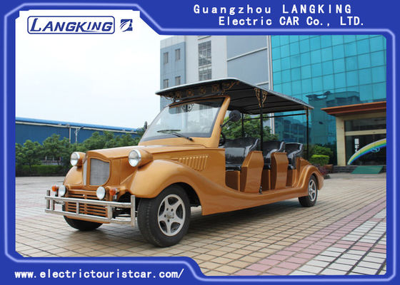 Vintage 8 Passenger Golf Cart , Custom Club Car Golf Carts 28km/H Max Speed Leather Sofa