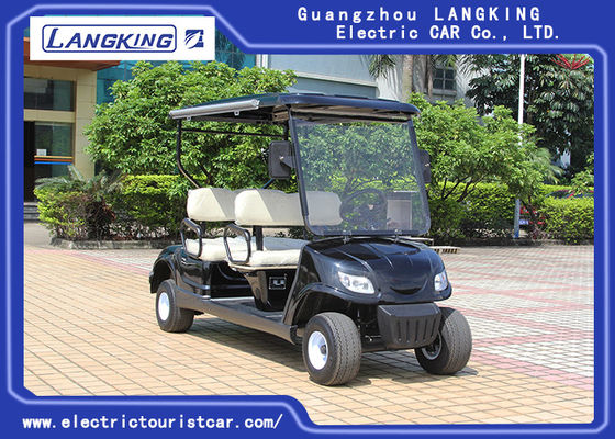 China Black 4 Seaters Powerful Electric Club Car Golf Buggy Steel Framework factory
