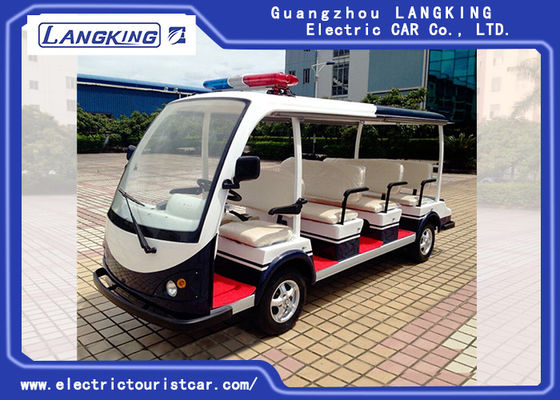 11 Seater 72V/5.5KW Electric Patrol Car Utility Electric Vehicle With Big Light On Top