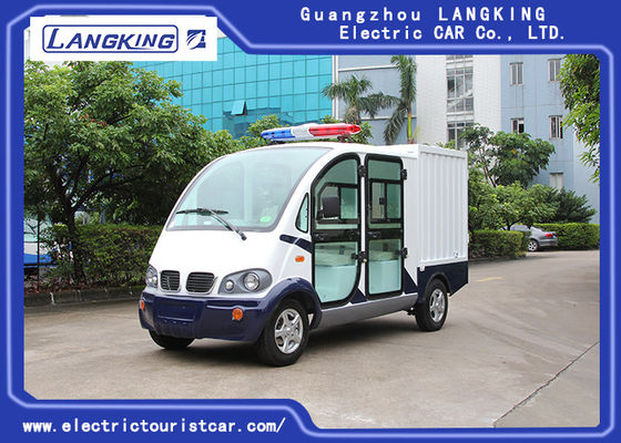 China 4 Seats Electric Luggage Cart / 48V 4kW DC Motor Driven Battery Powered Carry Van factory