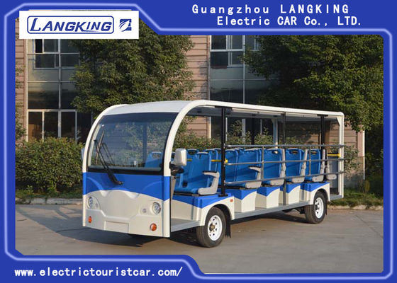 23 Plastic Seater Electric Shuttle Vehicles 5300×1730×2250mm Low Noise