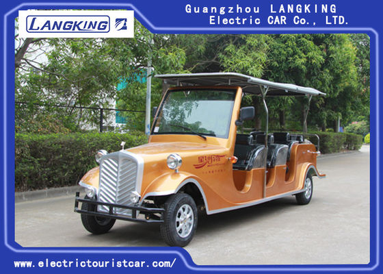 China 8seats Passenger 48V Battery 4KW Motor Electric Vintage Cars For Large Park Resort factory
