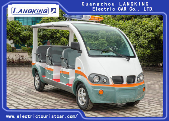 China City Street 8 Seats Electric Patrol Car Fiber Glass Body Seats Material With Curtain factory