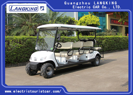 China Beach Tire  Battery Powered Electric Road Legal Golf Cart For 7 - 8 Person Adults factory