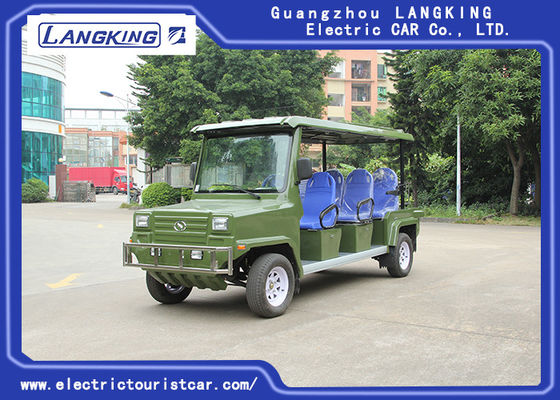 China Classic 8 Seater Electric Sightseeing Car With Basket For Security factory