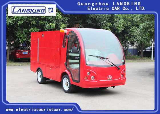 China 3.5 Meters Electric Fire Engine Car / Electric Freight Car 2 Seats 70km Range Dry Battery With Toplight factory