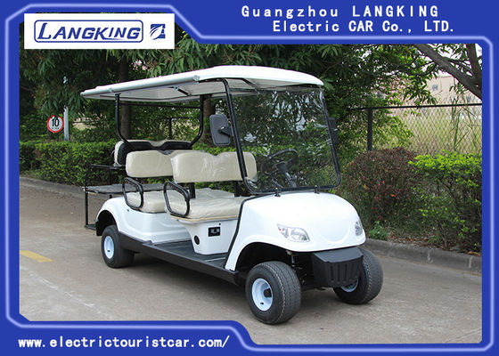 China White Color 48V 3KW DC Motor Electric Golf Carts With 6 Seats Easy Operated factory