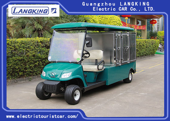China Two Seats Electric Cargo Truck With Roof / Stainless Steel Cargo Box factory