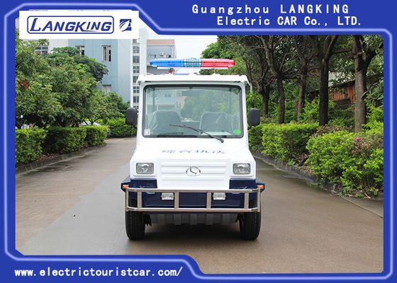 China 4 Seats Electric Club Vehicle With Basket / Mini Electric Patrol Bus With Toplight On Road factory