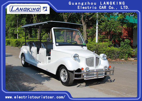 China 11 Passenger Electric Vintage Cars / Mini Battery Powerd Bus With 72V AC System Left Steering factory