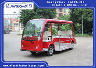 Red Battery Operated Electric Sightseeing Car With 5 Seats Low Noise