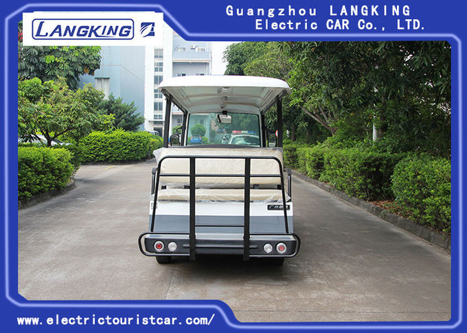 Small Electric Shuttle Car , 14 People Electric Sightseeing Bus Max.Speed 28 km/h